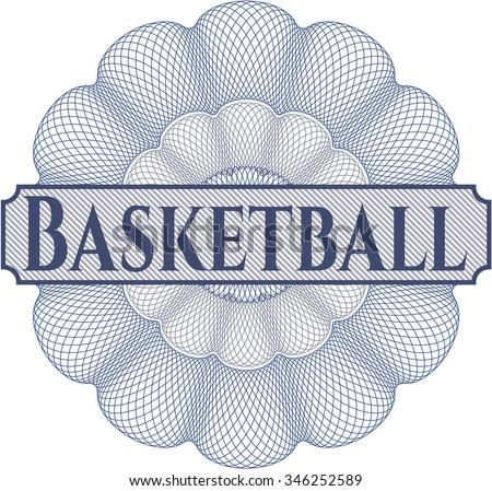Basketball abstract rosette