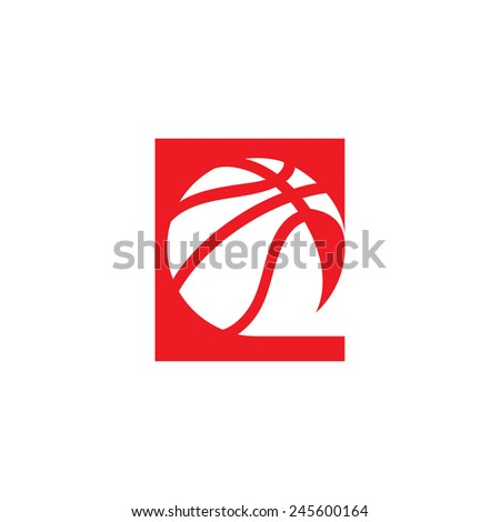 basketball abstract sign