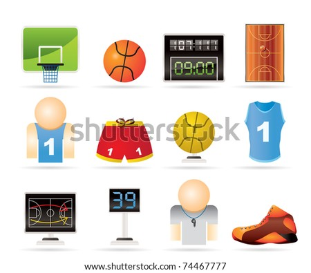 Basketball and sport icons - vectorIcon Set