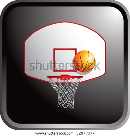 basketball backboard and hoop