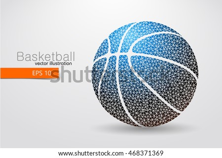 basketball background and text