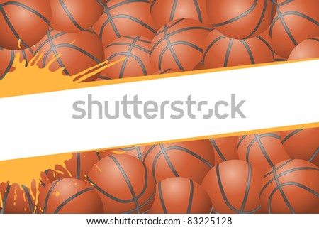 Basketball background (group of some balls)
