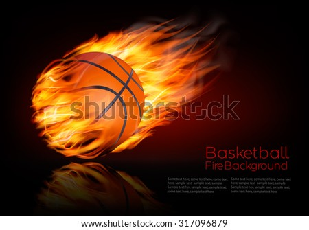 basketball background with a