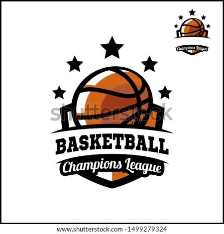 Basketball badge champions league logo vector