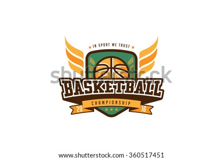 basketball badge logo design