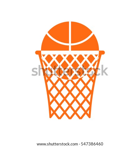 basketball ball in ring emblem