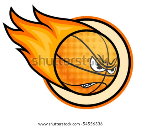 Basketball ball on fire