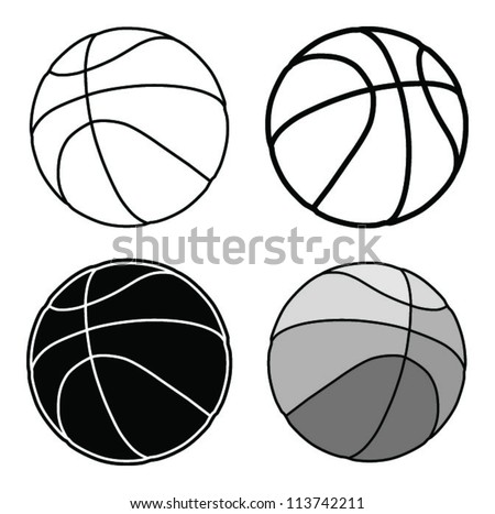 basketball, ball silhouette