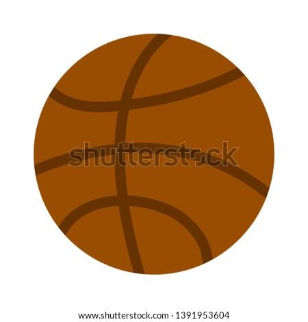 basketball ball sport icon vector illustration graphic design
