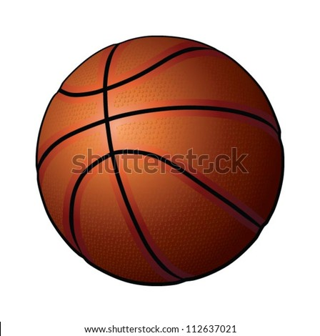 Basketball, ball, vector