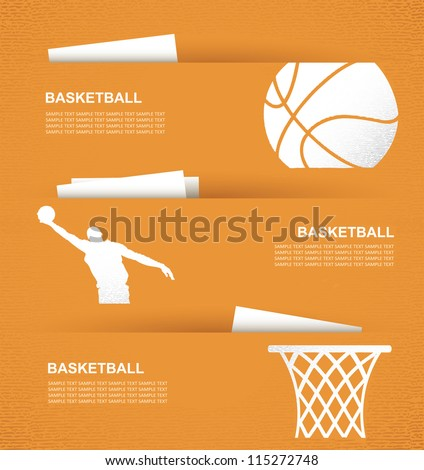 Basketball banners - vector illustration