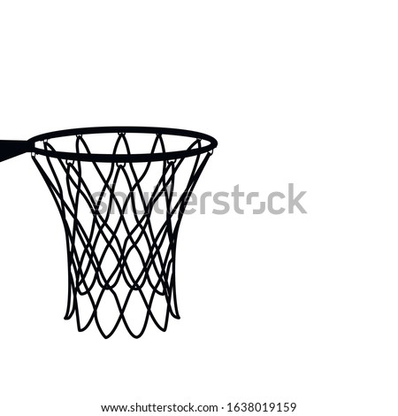 Basketball basket, basketball hoop, basketball net, basketball vector illustratin