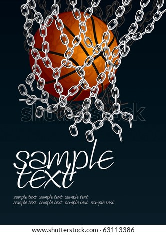 Basketball Basket Set 4 Vector Drawing