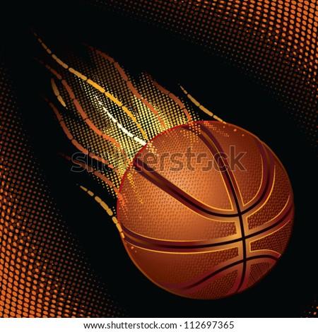 basketball, burned basketball, great ball of fire