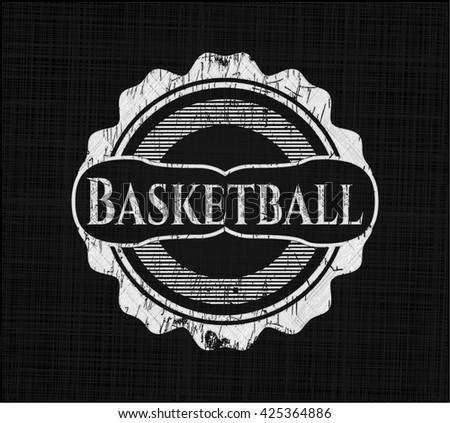 Basketball chalk emblem