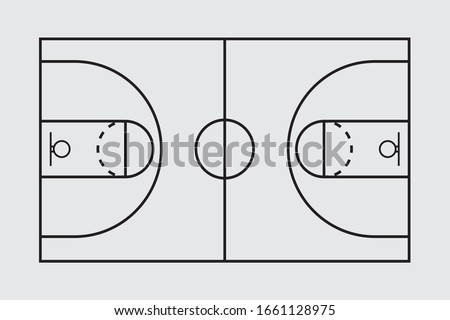 Basketball Court Flat Vector Icon Foto d'archivio ©