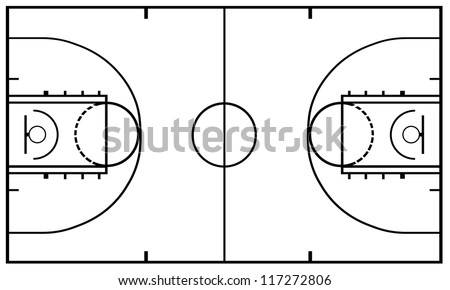Basketball Court isolated
