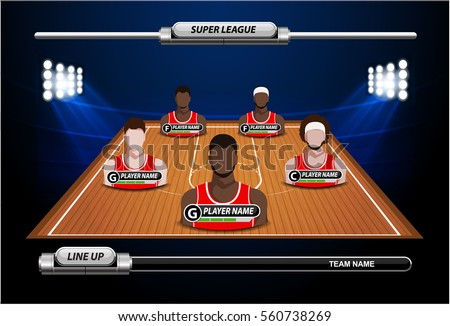 basketball court with