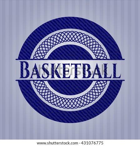 Basketball denim background