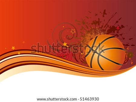 basketball design element,red background