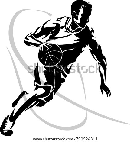 basketball dribble abstract