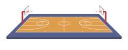 Basketball field isometric vector illustration on white