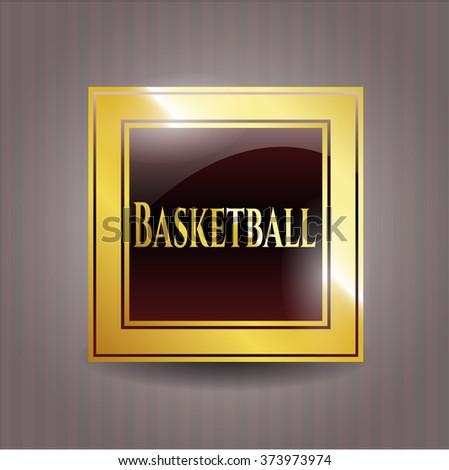 Basketball golden badge