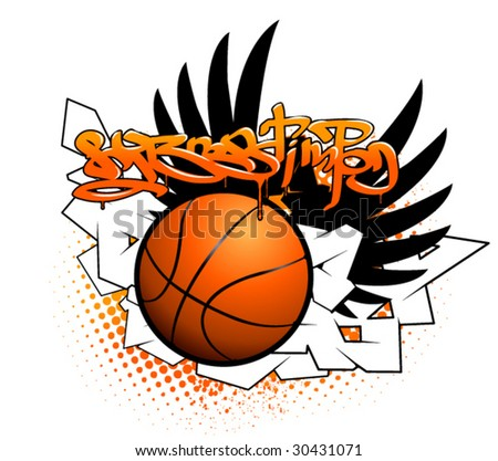 Basketball graffiti image