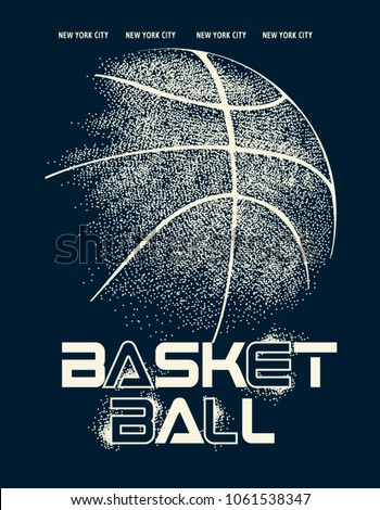 basketball graphic design for t-shirt