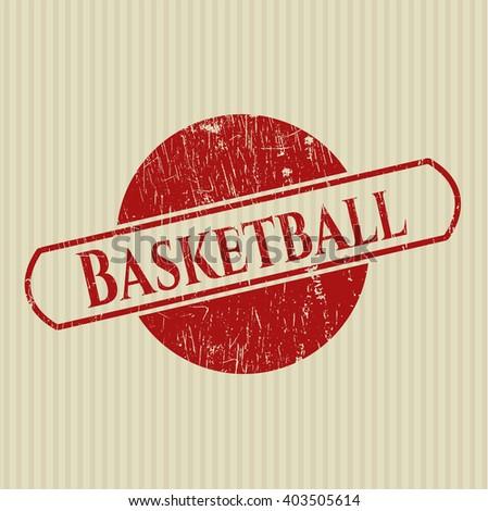 Basketball grunge seal