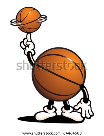 Basketball Guy Spinning Ball