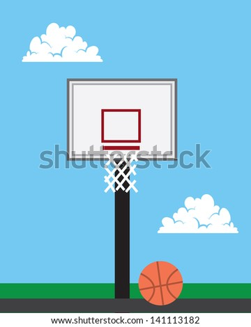 basketball hoop outside with