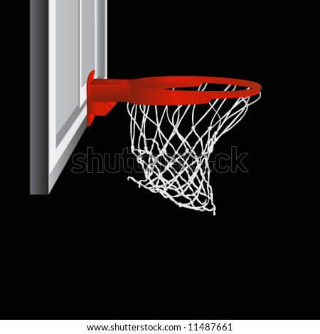 clipart basketball goal. Basetball Hoop Silhouette Clipart stock photo : basketball hoop