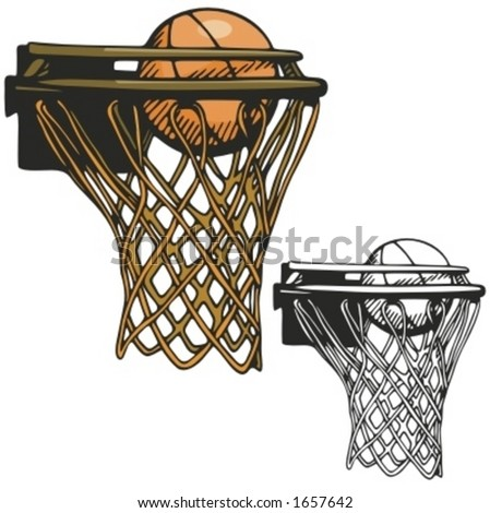 stock vector : Basketball hoop. Vector illustration