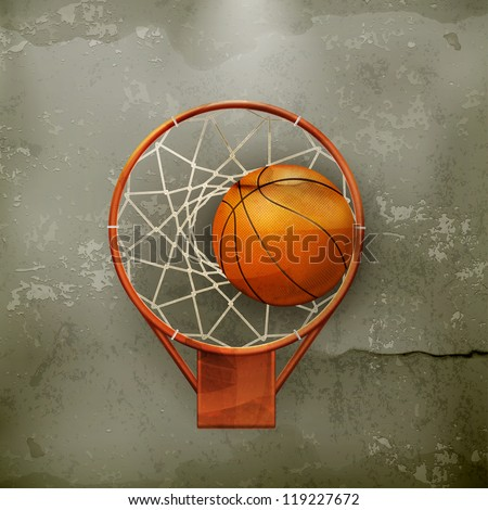 basketball icon  old style