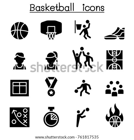 Basketball icon set vector illustration graphic design