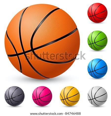 Basketball. Illustration on white background for design.