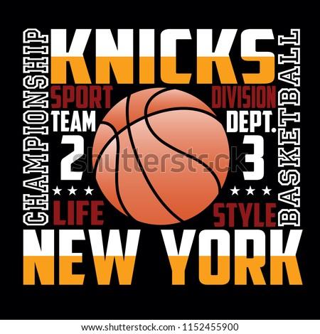 Basketball,knicks new york,images design vector illustration for t shirt