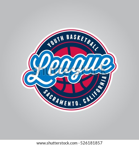 basketball league logo modern