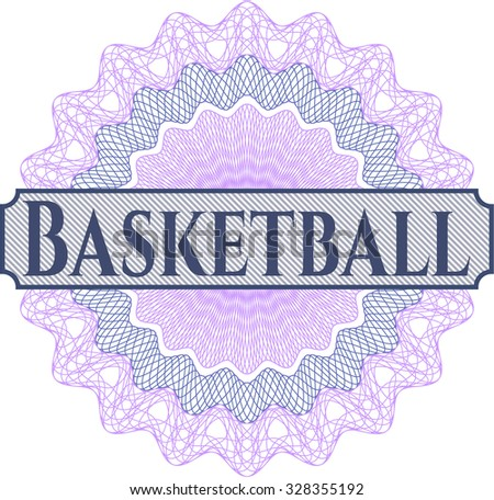 Basketball linear rosette