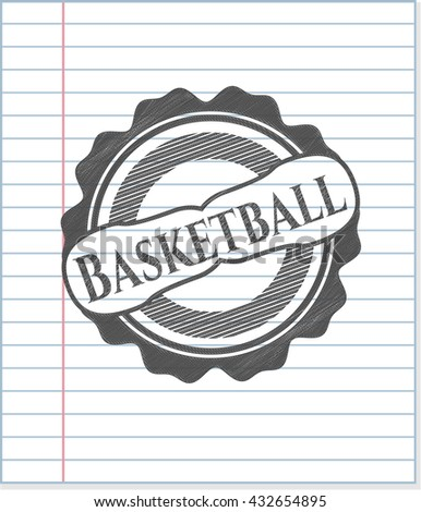 Basketball pencil effect