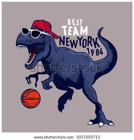 basketball player dinosaur