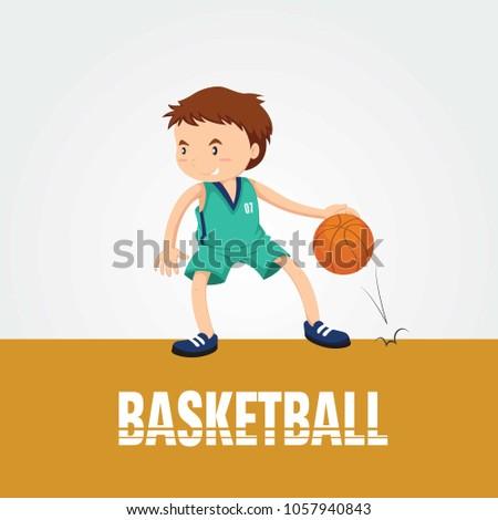 BASKETBALL PLAYER FLAT STYLE