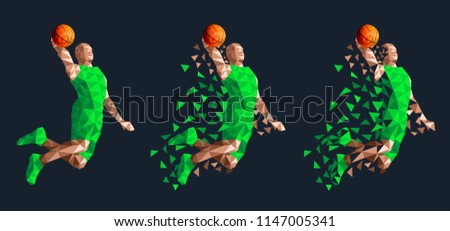 basketball player jumping high
