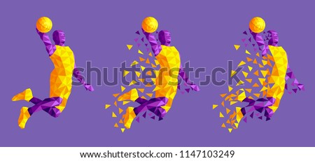 basketball player jumping high design