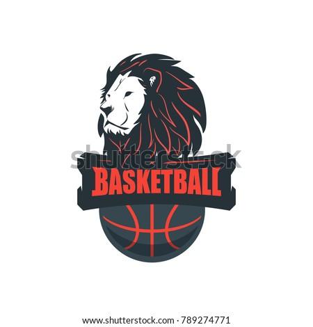 basketball player logo template