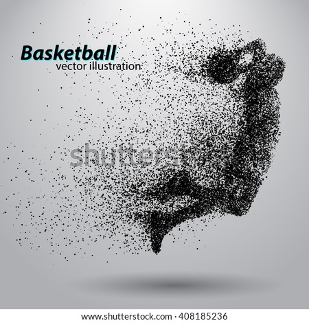 basketball player of particle