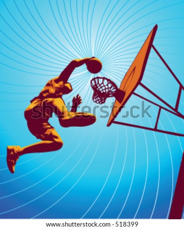 Basketball player part of my vector sports series.