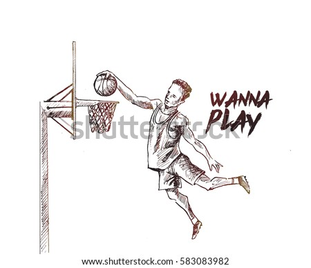basketball player scoring an
