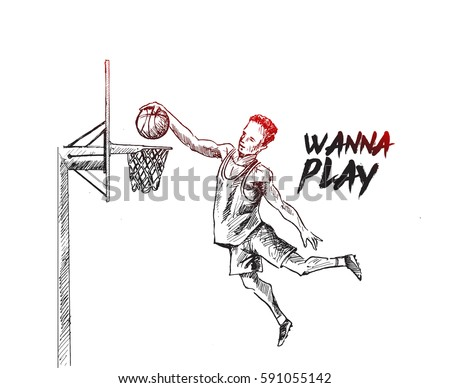 basketball player scoring an